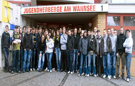 Group of BVB supporters visiting Sachsenhausen