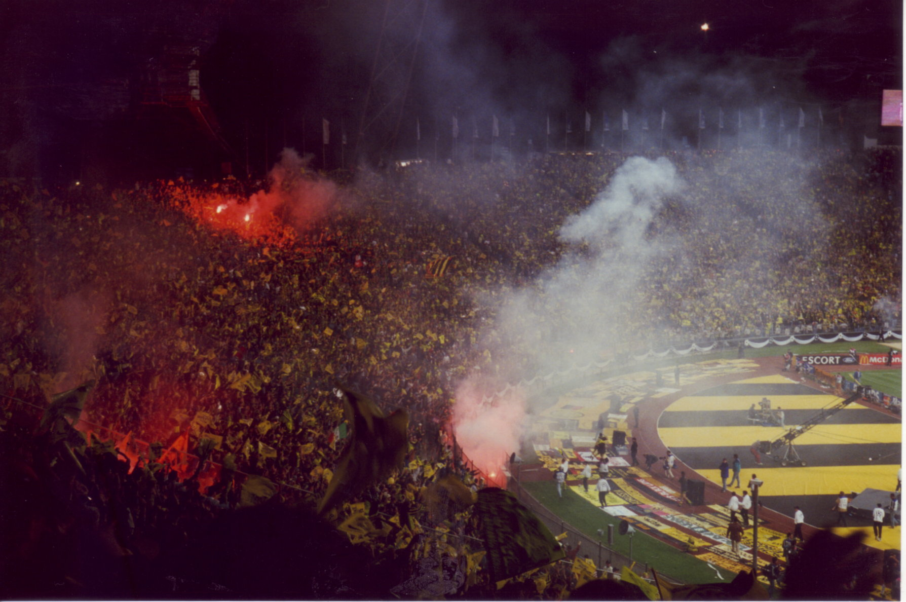 Pyro in the stadium