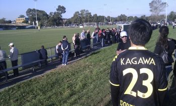 Steven Chang from behind in a Kagawa Jersey