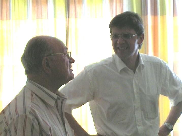 Adi Preissler mit unserem Interviewer Wade