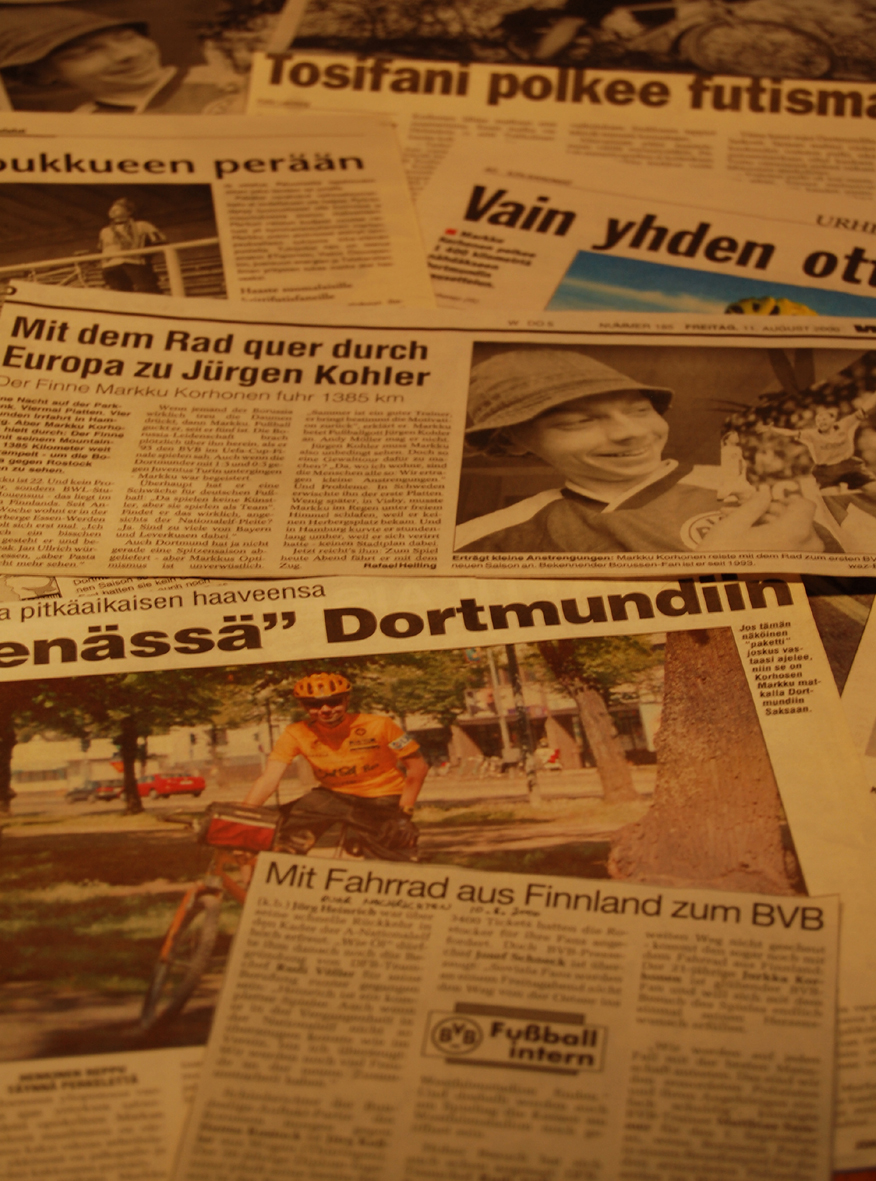 Several newspapers wrote about Markkus special trip