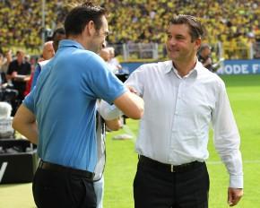 Zorc hier mit Hertha Manager Preetz hatte oft den richtigen Riecher