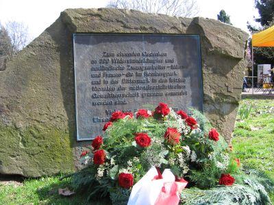 Gedenktafel für die Ermordeten im Rombergpark