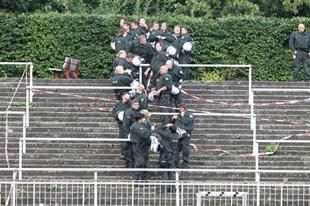 Polizei bei den Amateuren