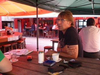 Peter Großmann beim Interview im Strobels