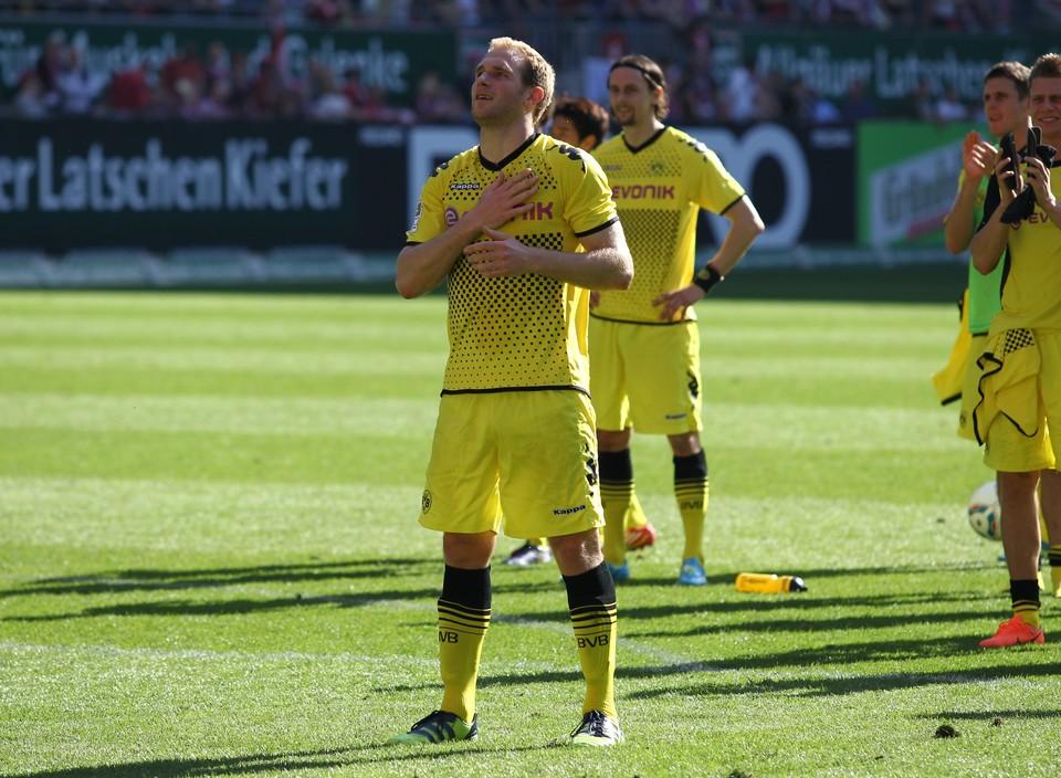 Florian Kringe verabschiedet sich in Kaiserslautern von den BVB-Fans