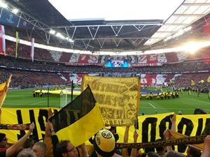Champions League Finale 2013 - durchgehend versperrte Sicht