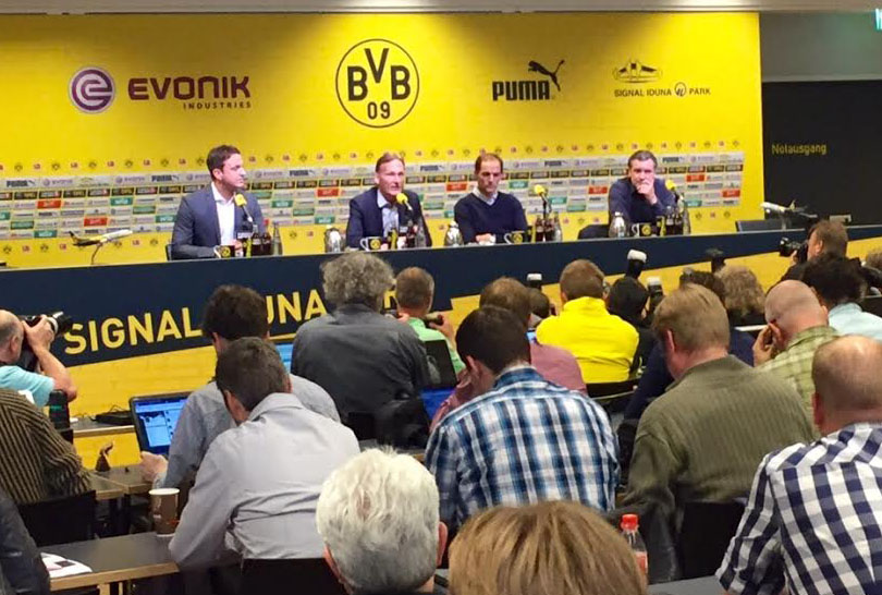 Tuchel at the press conference