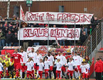Die Fortuna-Fans gedenken ihrem Präsidenten