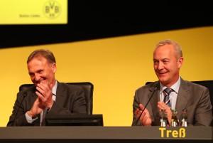 Hatten ihren Spaß: Aki Watzke und Thomas Treß