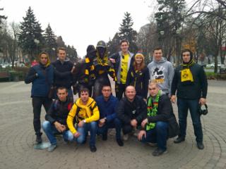 Russische BVB-Fans in Krasnodar