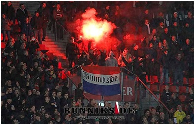 Flares are quite common in Dutch stadiums