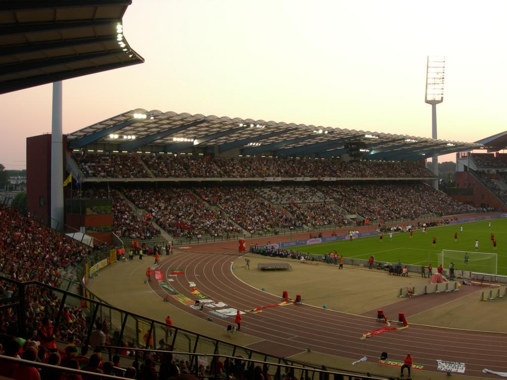 The biggest stadium in Belgium: 50,000 seats, the King-Baudouin-Stadium