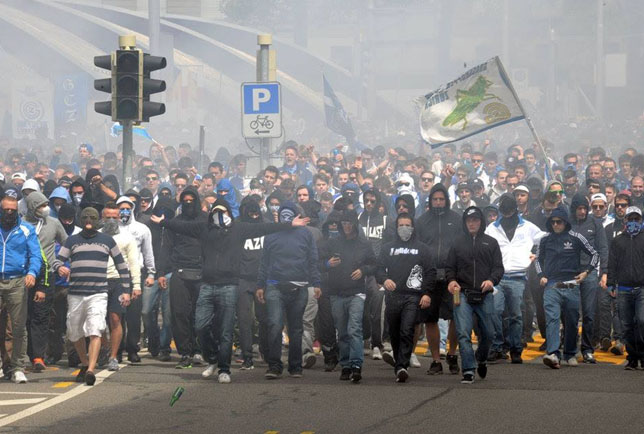 Hooligans und Ultras sind oft schwer auseinanderzuhalten