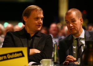 Ebenfalls neu: Björn Gulden von Puma, hier mit Carsten Cramer