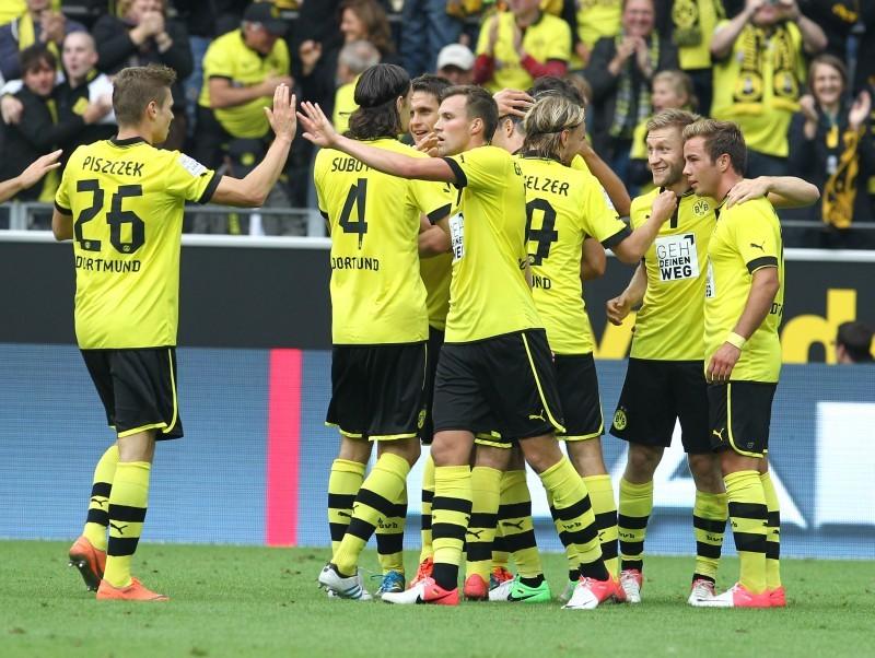 BVB players celebrating