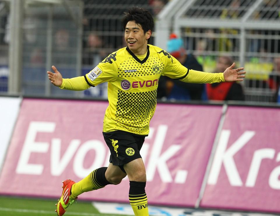 Shinji in Jubelpose - hoffentlich auch gegen Freiburg