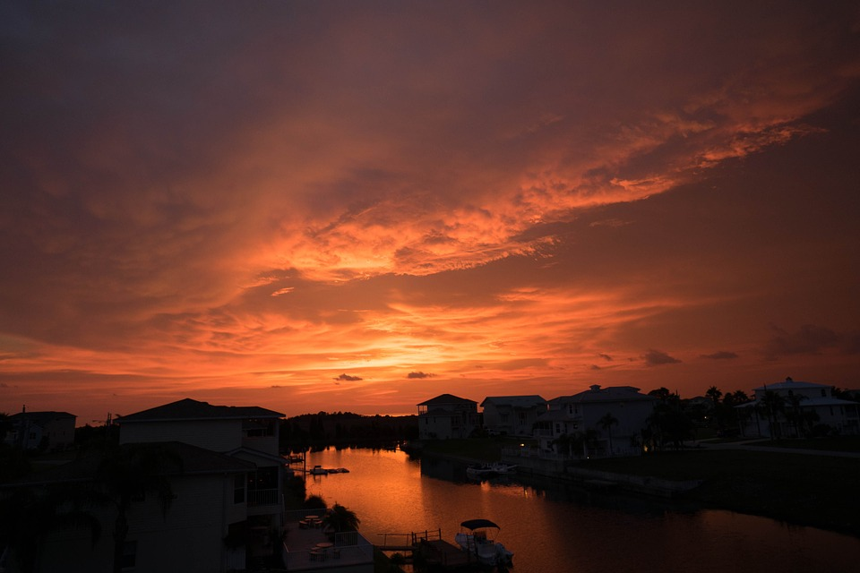 Sonnenuntergang am WErk