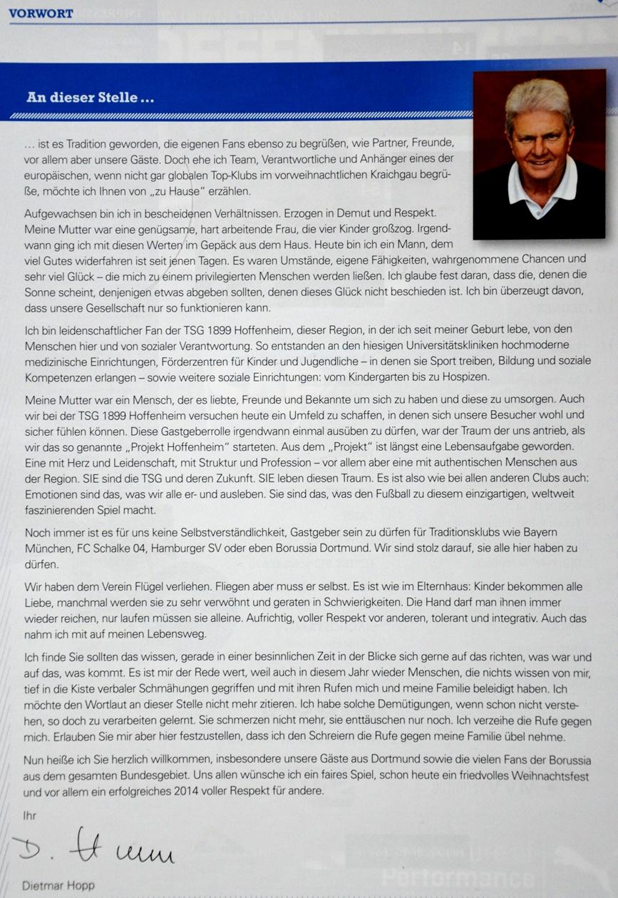 Vorwort Dietmar Hopp