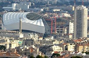 Der Umbau des Stade Velodrome ist vorangeschritten
