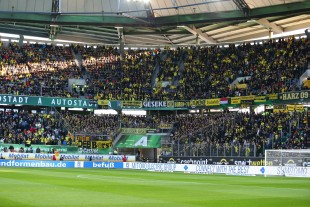 The supporters area of Borussia
