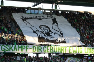 Choreo of the Wolfsburger Supporters
