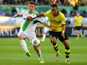 Pierre-Emerick Aubameyang had the first chance