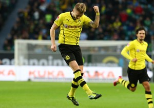 Marco Reus celebrated the 1-0 for Borussia
