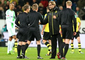 Juergen Klopp and Dr. Jochen Drees after the match