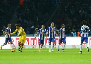 Im Hinspiel wurden reihenweise Chancen vergeben - nur Schieber traf für Hertha BSC