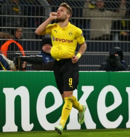 Ciro Immobile celebrates the 1-0