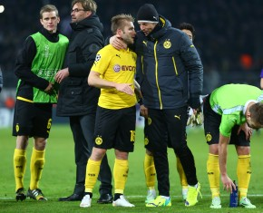 Kuba and Roman Weidenfeller after the match