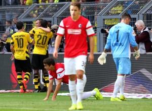Großkreutz, Ramos and Mkhitaryan celebrating after the first goal