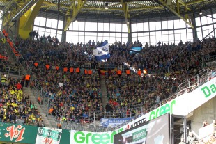 The supporters of Hoffenheim