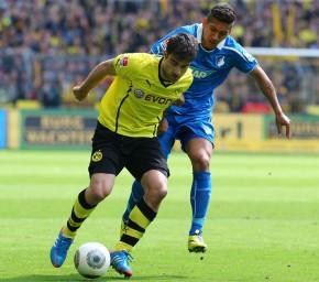 Duell am Samstagnachmittag beim Spiel BVB - Hoppenheim