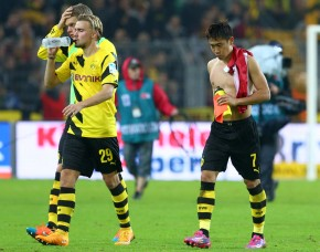 Schmelzer and Kagawa after the match