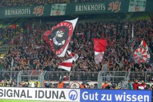 Starker Auftritt: Die Stuttgarter Fans im Gästeblock