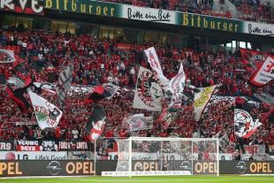 Stets bemüht war die Leverkusener Nordkurve