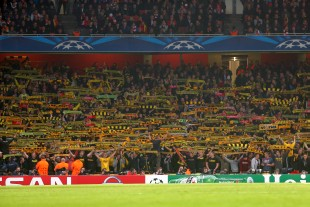The sector of the Dortmund Supporters