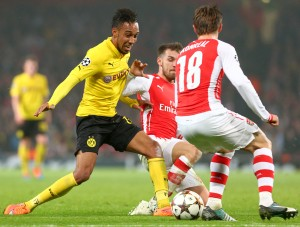 Auba against Arsenal