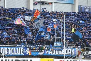 Auch in Paderborn gibt es mittlerweile einen kleinen Fanblock