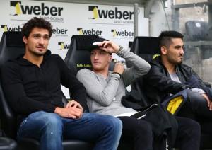 Leider nur Zuschauer: Hummels, Reus und Gündogan