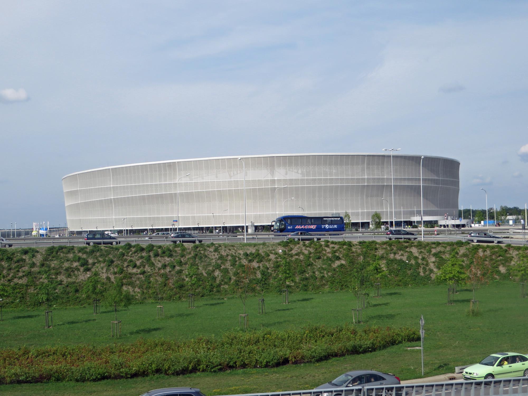 Das Stadion in Wroclaw, gebaut zur EM 2012