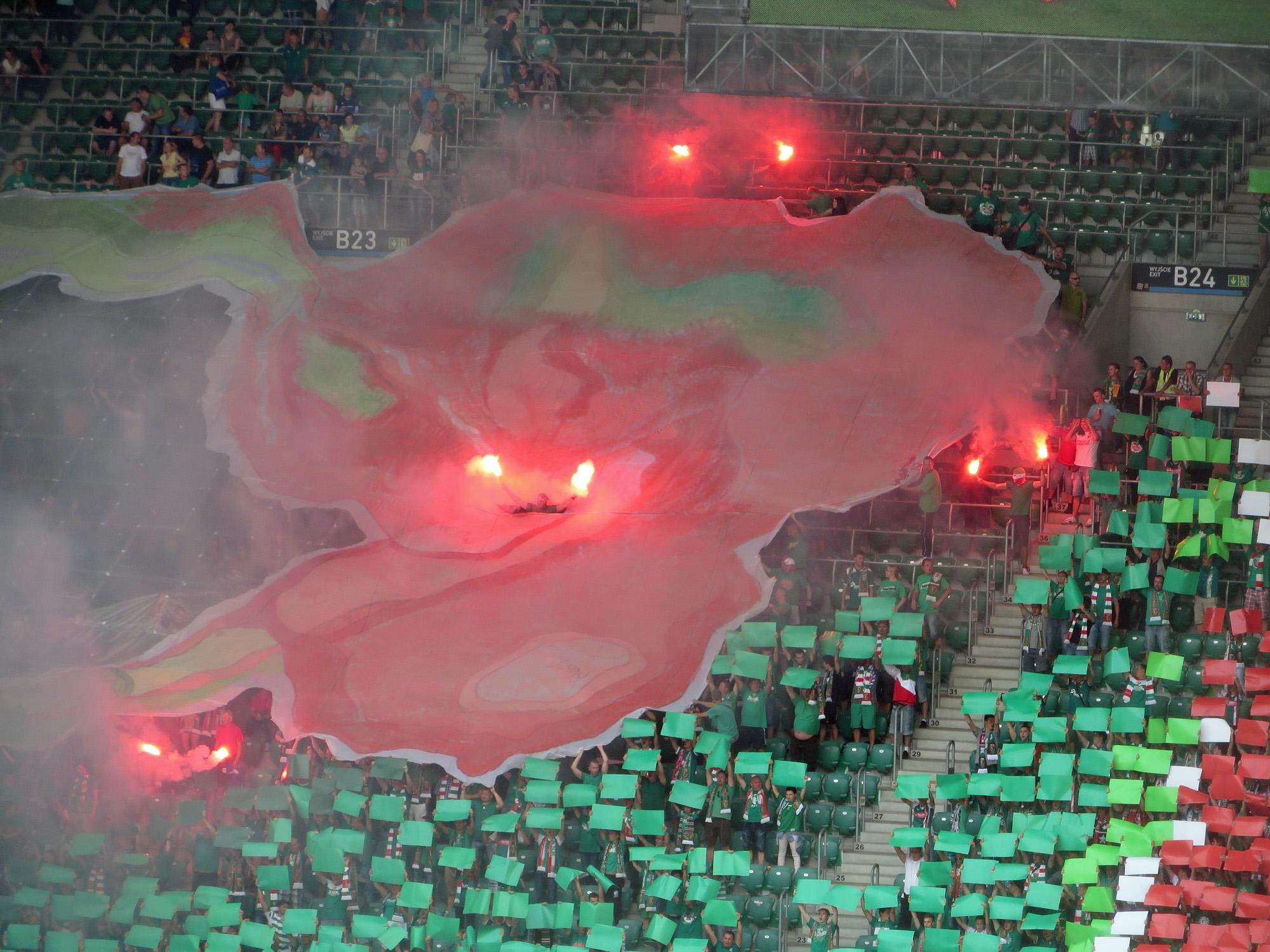 Choreo der Wroclawer Fans