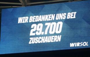Die Rhein-Neckar-Arena war nicht ausverkauft