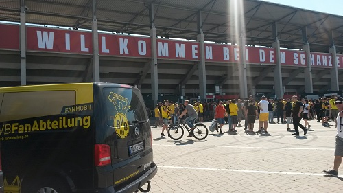 FC Ingolstadt welcomes the away supporters to their stadium.
