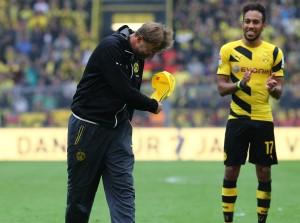 Nochmal alles rausgehauen und zog dann die Kappe vor den Fans: Jürgen Klopp