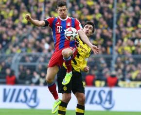 Nicht nur im Duell gegen Mats Hummels erster Sieger: Robert Lewandowski