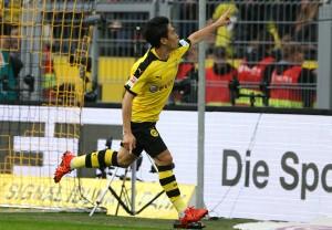 Shinji Kagawa bejubelt das 1-0