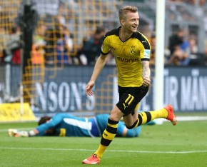 Reus scores the first.